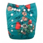 Alva Floral OSFM Pocket Nappy