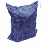 Alva Denim Double Zippered Wetbag