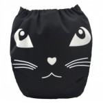 Alva Black Cat OSFM Pocket Nappy