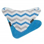 Mum 2 Mum Fashion Bandana Bib - Blue Chevron