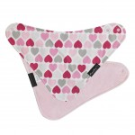 Mum 2 Mum Fashion Bandana Bib - Hearts