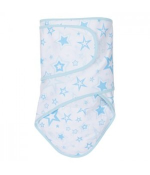 Miracle Blanket - Newborn Swaddle - Blue Stars