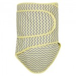 Miracle Blanket - Newborn Swaddle - Grey/Yellow Chevron