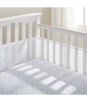 BreathableBaby - White Breathable Cot Bumper