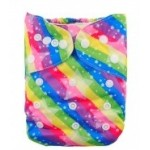 Alva Rainbow Stars OSFM Pocket Nappy