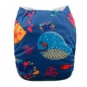 Alva Whale OSFM Pocket Nappy