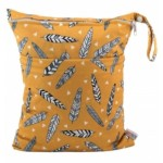 Alva Feathers Double Zippered Wetbag