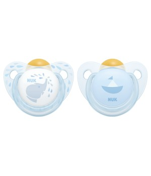 NUK Baby Rose & Blue Latex Soother - 2 pack