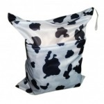 Alva Cow Double Zippered Wetbag