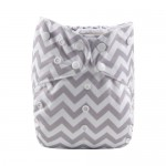 Alva Grey Chevron Big-Size Pocket Nappy