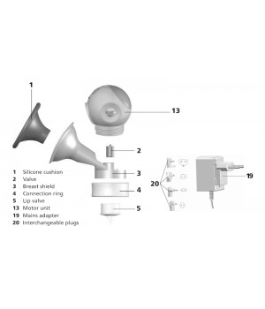 NUK Replacement Parts for Luna Electric Breast Pump