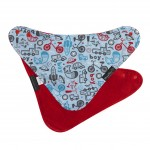 Mum 2 Mum Fashion Bandana Bib - Boy/Red Print