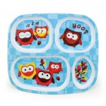 Melamine Divided Plate - Owls