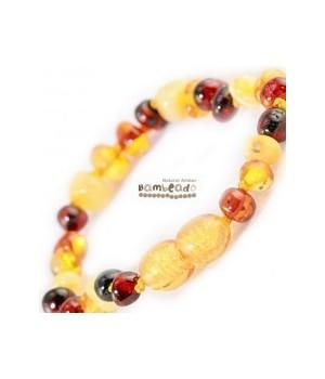 Bambeado Baby Baltic Amber Bracelet Mixed