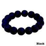 Bambeado Round Bead Adult Bracelet Black