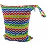 Rainbow Chevron Double Zippered Wetbag