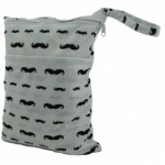 Mustache Double Zippered Wetbag