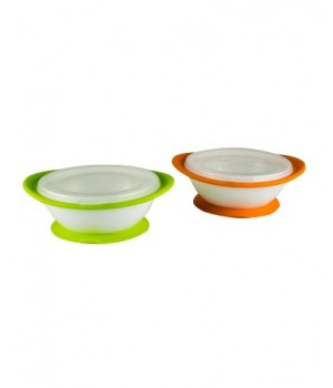 NUK No-Mess Suction Bowls with Lid 2 pack